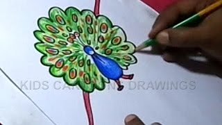 How to Draw Handmade Peacock Rakhi for Kids Step by step