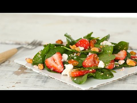 Strawberry Spinach Salad with Almonds Everyday Food with Sarah Carey