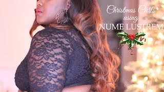 Christmas Luxurious Curls using Nume Lustrem Set | Chanel Boateng Thumbnail