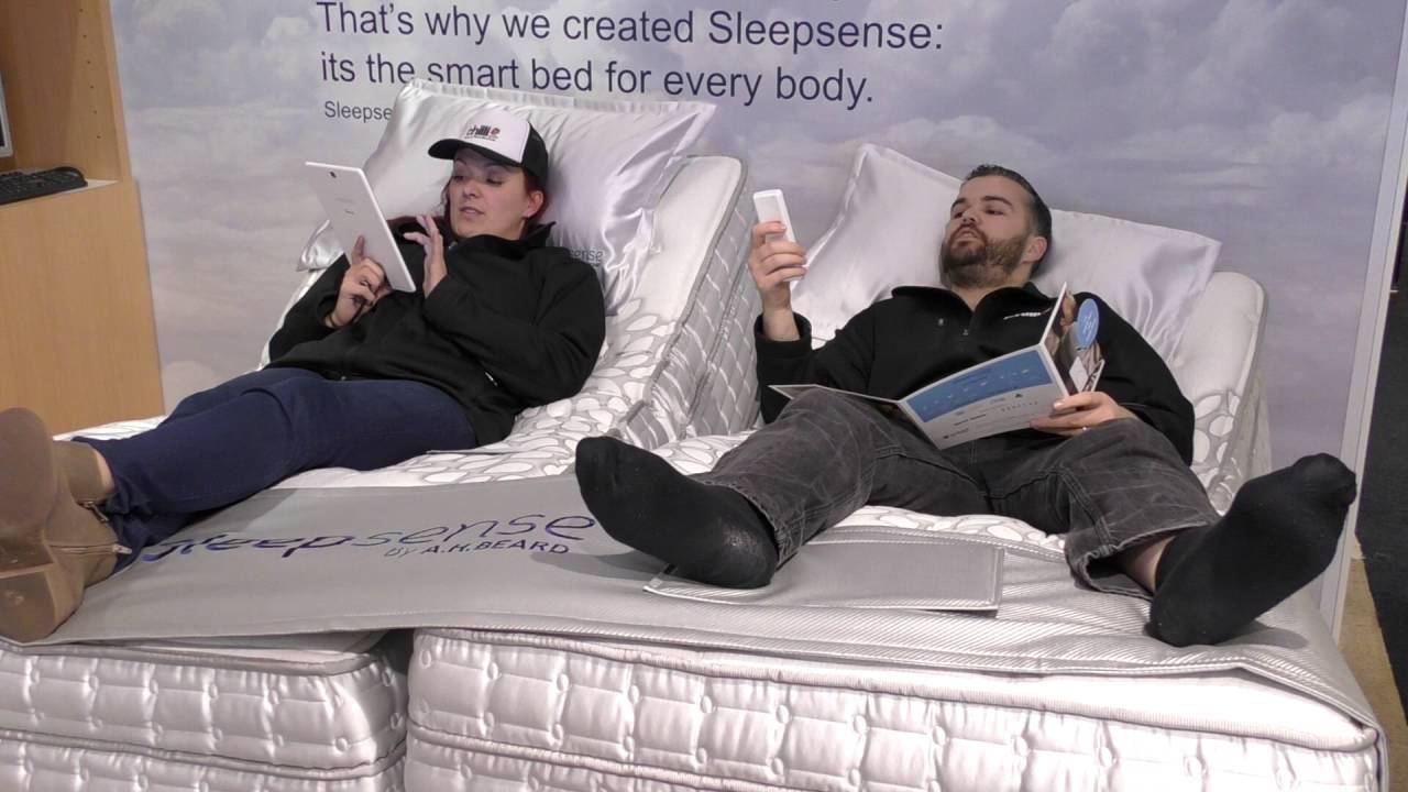 harvey norman product test sleepsense from a h beard youtube