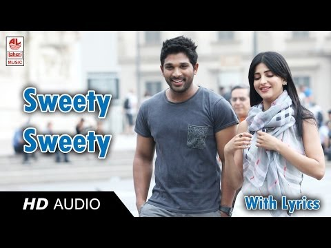 Race Gurram Songs | Sweety Song Lyric | Allu Arjun, Shruti hassan, S.S Thaman