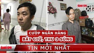 Bắt 2 nghi phạm, thu giữ 3 khẩu súng trong vụ cướp ngân hàng ở Tiền Giang