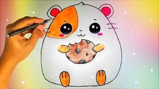 Как нарисовать милого ХОМЯЧКА? Лёгкие рисунки для детей