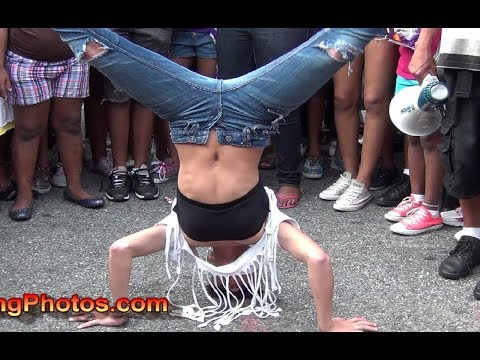 Dance Competition at Sumpter Street Block Party in Brooklyn new york