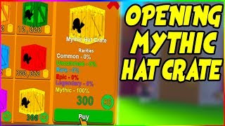 OPENING A MYTHIC HAT CRATE IN THINKING SIMULATOR | Roblox