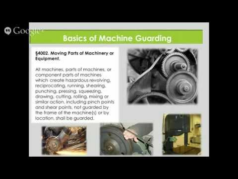Machine Guarding For California Businesses