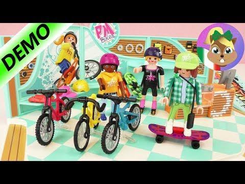 Playmobil BICI & SKATEBOARD demo negozio - nuovo negozio al centro commerciale