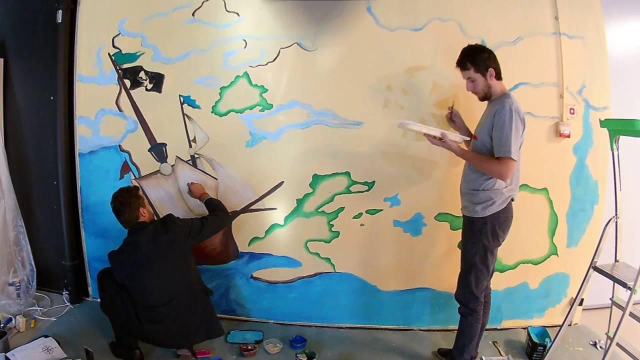 Dekoracyjne Malowanie ścian Strefa Pirata