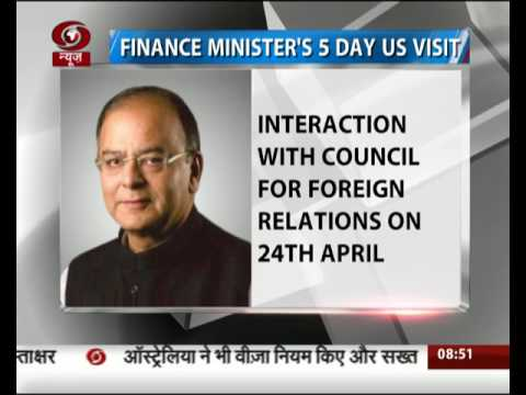Finance Minister to leave on a five-day visit to the US today
