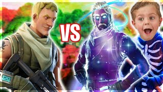 Default Skin Makes Hackers Rage Quit In A 1v2 On Fortnite! (1v1 Trolling)