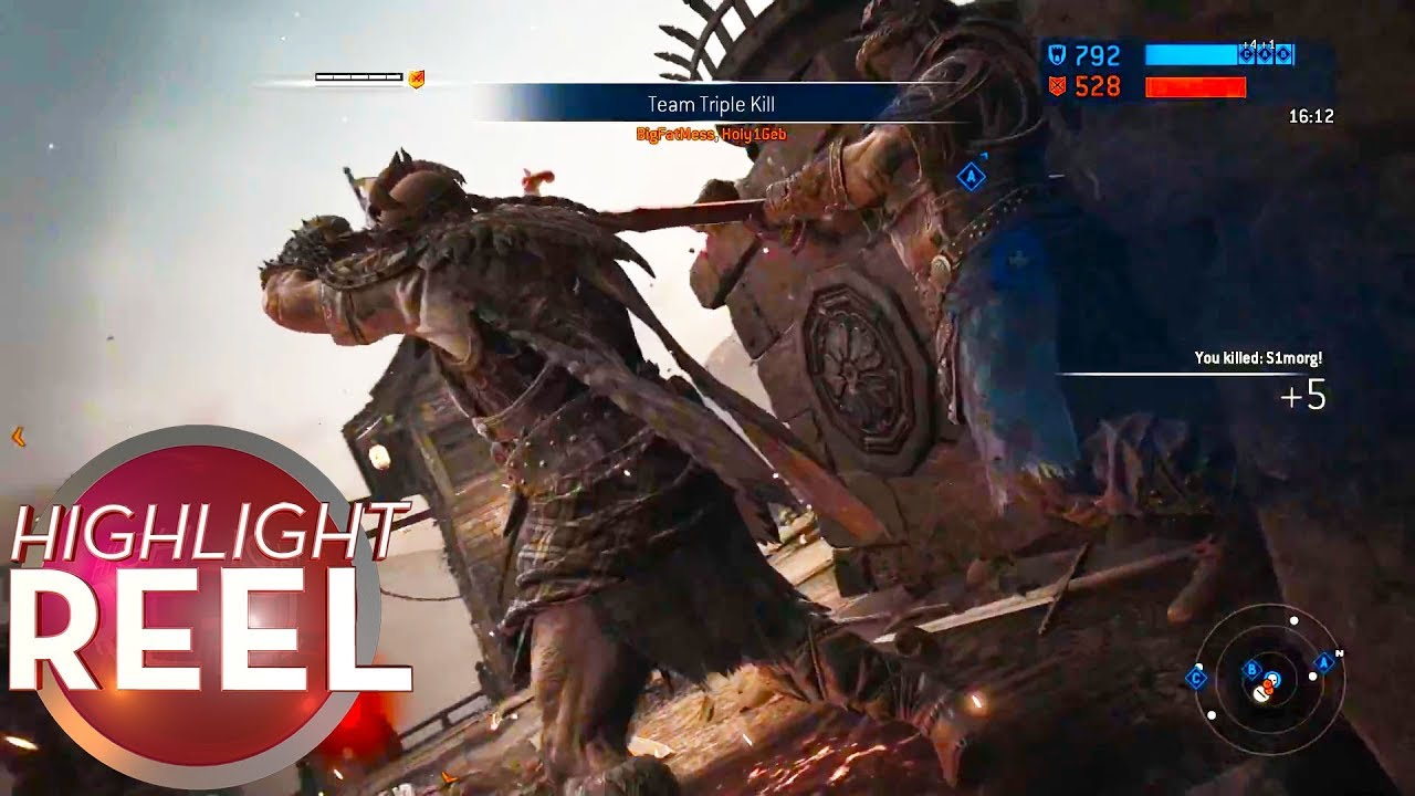 Highlight Reel #423 - For Honor Player Gets Two-For-One Execution
