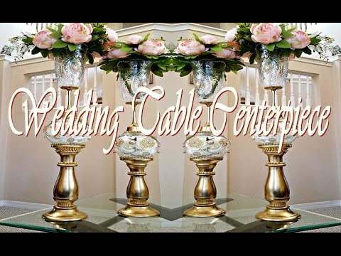 DIY Wedding /Table Centerpiece Tutorial ( 50% Dollar Tree Items Used) - DIY Wedding /Table Centerpiece Tutorial ( 50% Dollar Tree Items