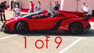 $4.5m Lamborghini Veneno Roadster SOUND! Start Up and Revs
