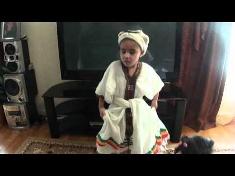 Ethiopian Girl Dances Ethiopian Eskista (Iskista) thumbnail