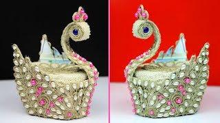 WoW ! What an Amazing DIY Peacock Showpiece! Handcraft diy projects - Showpiece making using jute
