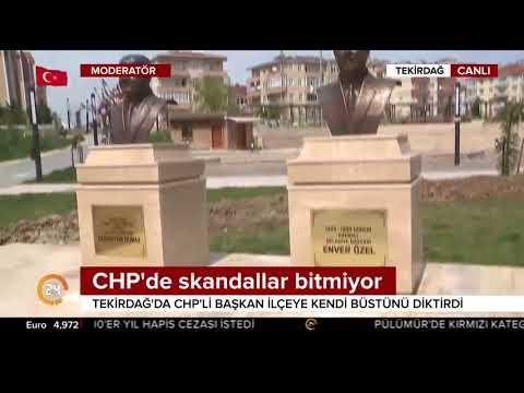 Tekirdağ'da CHP'li belediye başkanı parka büstünü yaptırdı