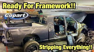 Rebuilding My Wrecked 2017 Ram Mega Cab Cummins From Salvage Auction Part 2