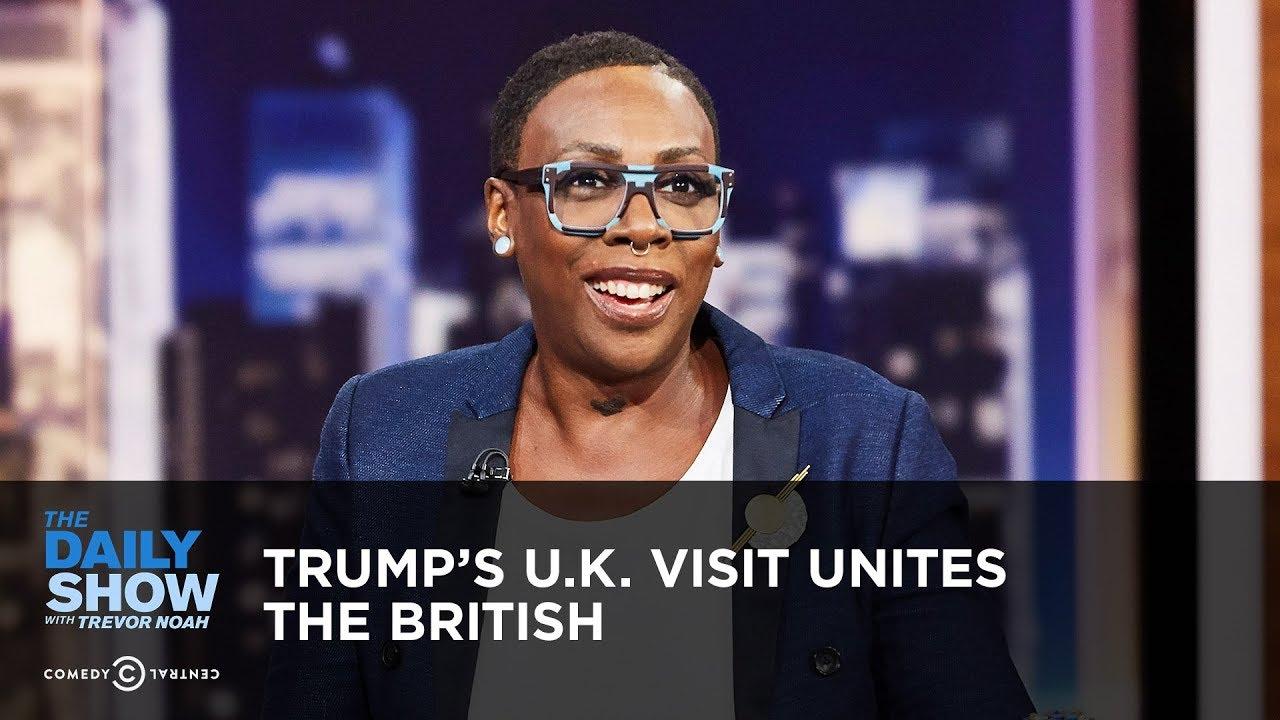 Trump's U.K. Visit Unites the British   The Daily Show