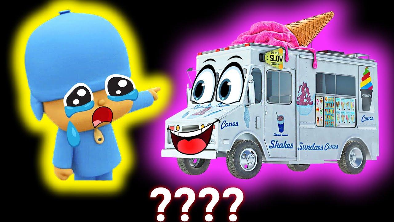 5 Pocoyo & Ice Cream Truck Go Away Sound Variations in 45 Seconds