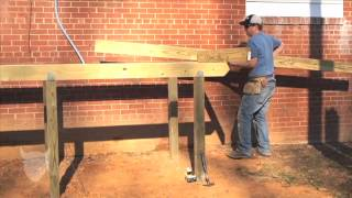 How To Connect Wood On A Backyard Deck Project