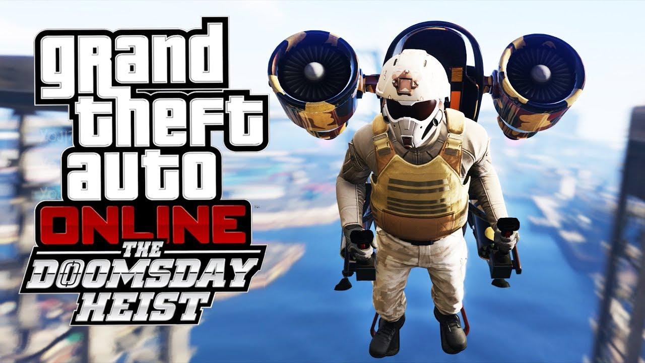 GTA Online: The Doomsday Heist PL – LECIMY JETPACKIEM NA KONIEC MAPY! + TUNING!