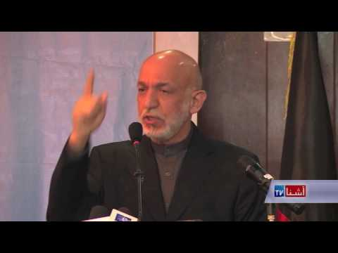 karzai reaction  on us bombing in Afghanistan VOA Ashna tv