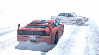 Fog Pile Up Crashes #1 - BeamNG Drive