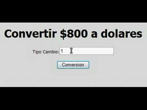 Conversion 800 Pesos A Dolares