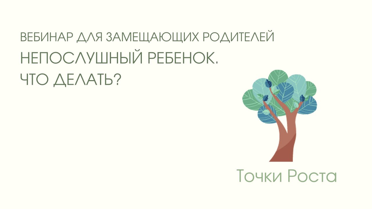 Запись вебинара для замещающих родителей на тему: «Непослушный ребенок. Что делать?»  от 19.05.21