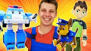 Сборник видео про игрушки для детей Веселая Школа. Бен Тен, Щенячий Патруль, Супер Джетт и машинки!