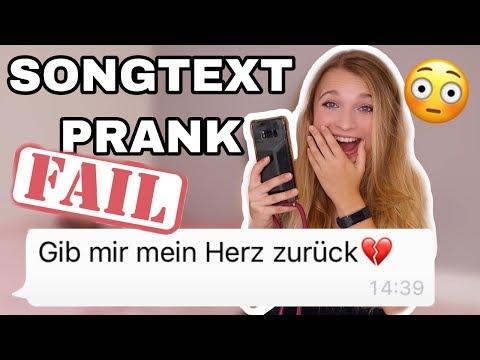 """SONGTEXT-PRANK an EX-""""Freund""""😳 Ich werde BLOCKIERT!"""