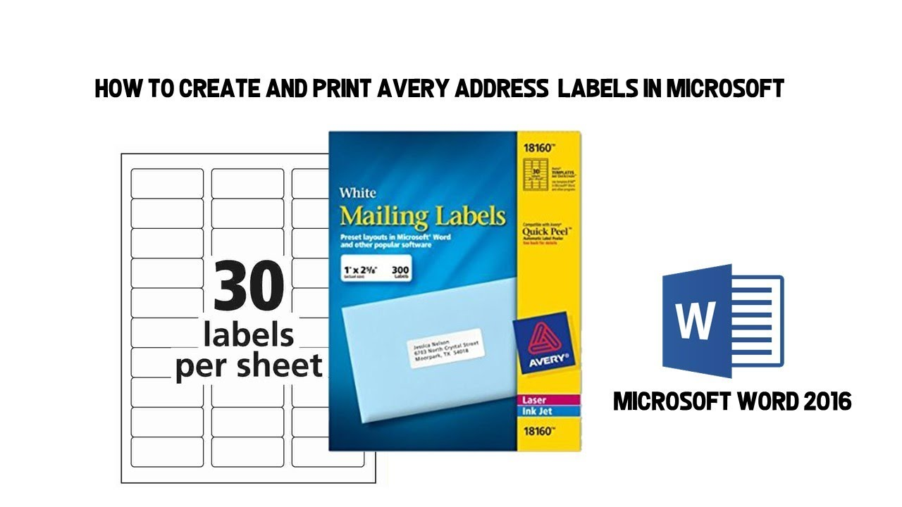 how to create and print avery address labels in microsoft word