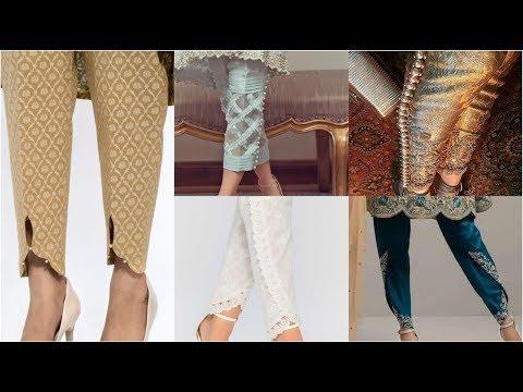 Very Latest & Trending Fashion Of Brocade/ Jacard/ Banarsi Trousers Designs Ideas