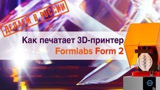 ДЕЛАЕМ В РОССИИ: Как печатает 3D-принтер Formlabs Form 2