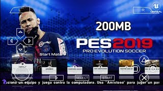 PES 2019 PPSSPP Android Offline 200MB Best Graphics New Kits & Transfers Update