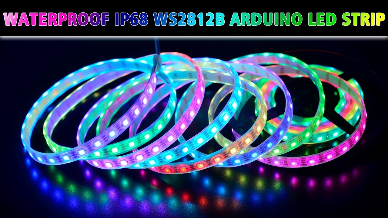 Ws2812b 5v Waterproof Ip68 Led Strip Lights For Arduino Swimming Pool Lighting