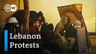 Police crack down on Lebanon protesters | DW News