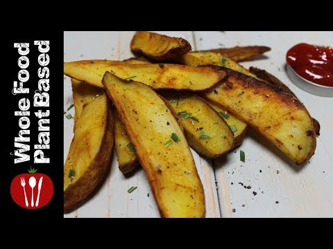 How to Make Vegan Oil Free Garbage Potato Wedges: The Whole Food Plant Based Recipes
