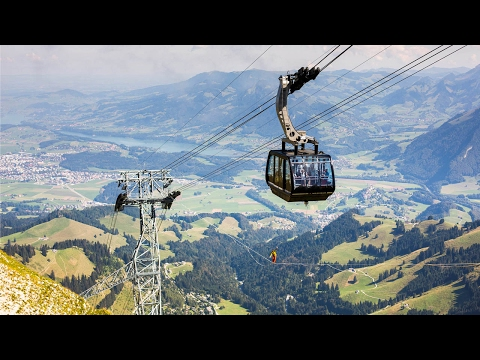 Amazing Drone Footage Of Highliners By Cable Cars
