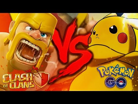 Pokémon GO VS. Clash of Clans | Duelo de Titãs