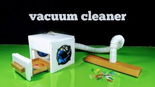 How to make a Powerful 12 Volt Vacuum Cleaner at Home || DIY Tutorial