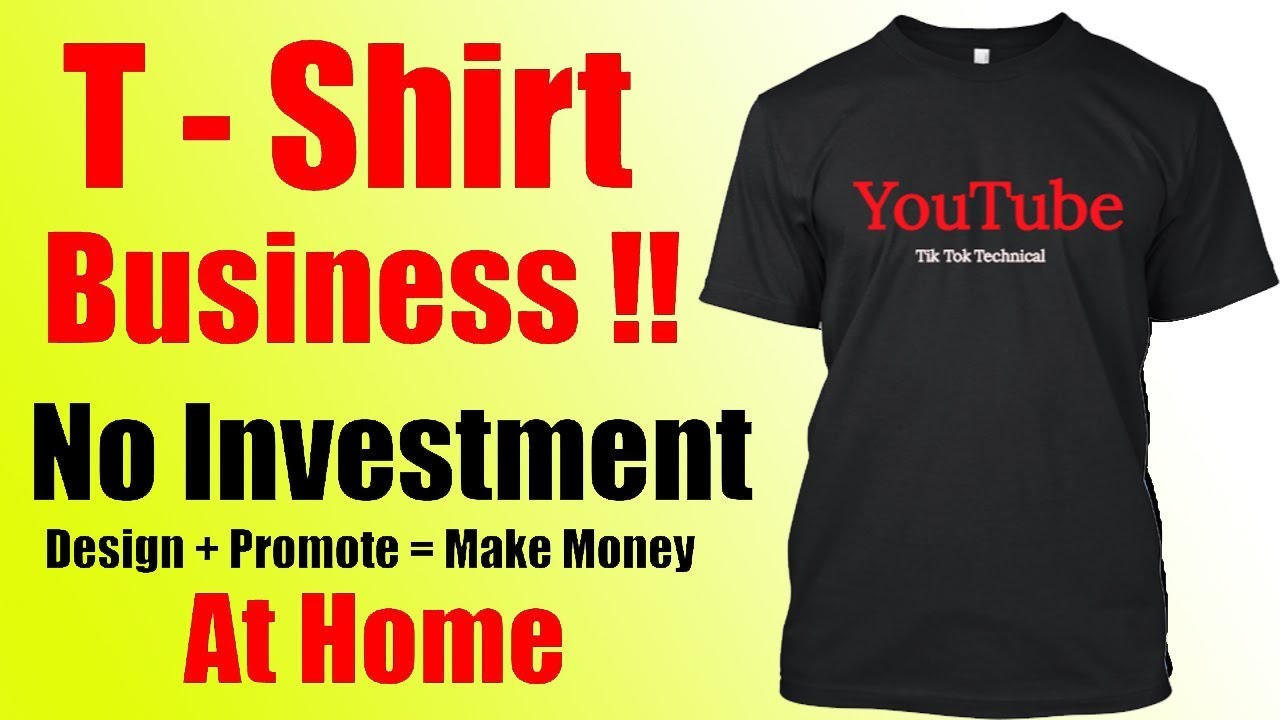 Make Rupees Online | T Shirts Design U0026 Sell Online | No Investment | Full  Time Job   Hindi 2017