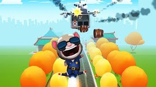 Mèo Tom Cảnh Sát Chạy Tнeo Tên Trộm Lấy Vàng #47 – Officer Tom Boss Fight - Talking Tom Gold Run