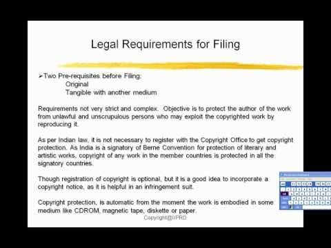 What is Software Copyright and what are the legal requirements for Filing