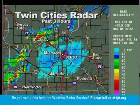5-1-12 St. Paul, MN TPT Weather Radio (Tornado Watch) 7:08 pm