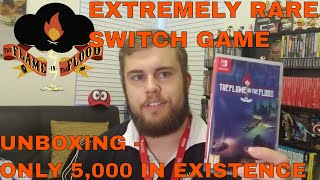 RARE GAME The Flame in the Flood Nintendo Switch Unboxing (ONLY 5000 IN EXISTENCE SUPER RARE GAMES)