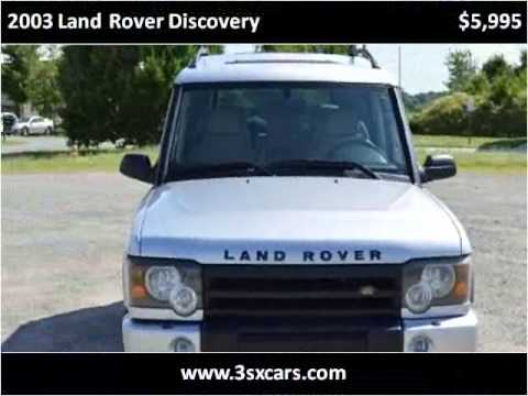 2003 Land Rover Discovery Used Cars Concord NC