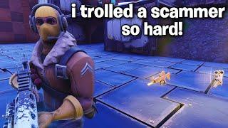 i trolled a SCAMMER super hard! 😂 (Scammer Get Scammed) Fortnite Save The World