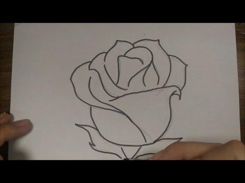 Como Desenhar Rosa Simples Facil Youtube