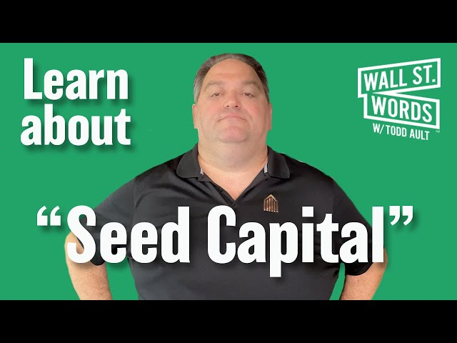Wall Street Words word of the day = Seed Capital